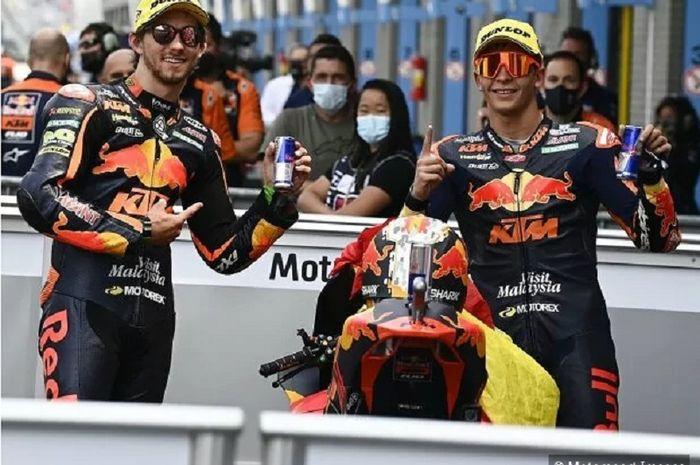Dua pembalap anyar KTM Tech3 di MotoGP 2022, Remy Gardner dan Raul Fernandez.