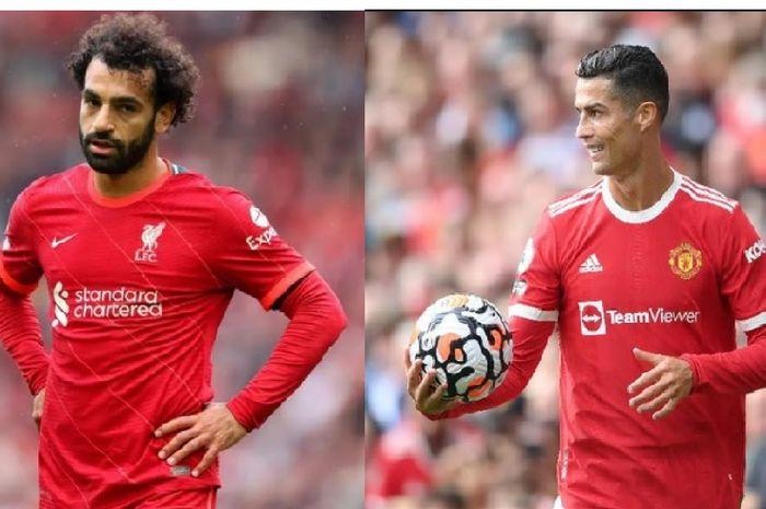 Mohamed Salah (kiri) dan Cristiano Ronaldo (kanan).