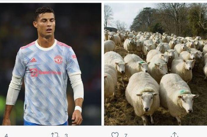 """Megabintang Manchester United, Cristiano Ronaldo, terpaksa pindah dari rumah yang baru dihuni kurang dari seminggu lantaran """"tetangganya"""" yang berisik."""