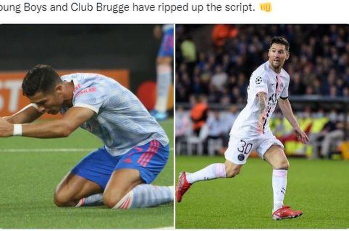 Sama seperti Lionel Messi di Paris Saint-Germain (PSG), Cristiano Ronaldo disebut tak bisa membuat Manchester United memenangkan gelar.