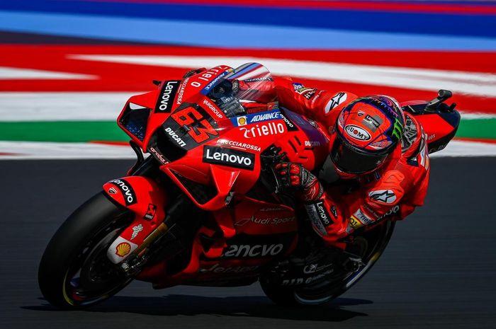 Pembalap yang menangi MotoGP San Marino 2021, Francesco Bagnaia.