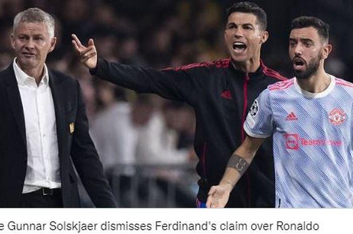 Pelatih Manchester United, Ole Gunnar Solskjaer memberikan balasan terhadap kritik Rio Ferdinand terkait aksi Cristiano Ronaldo.