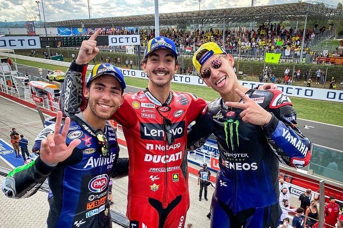 Update klasemen sementara MotoGP 2021 setelah MotoGP San Marino 2021, Francesco Bagnaia terus kejar poin Fabio Quartararo.
