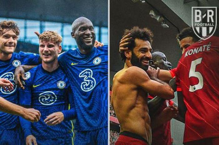 Chelsea dan Liverpool meraih hasil yang sama persis di Liga Inggris sejauh ini, termasuk dalam hal skor pertandingan di tiap pekannya.