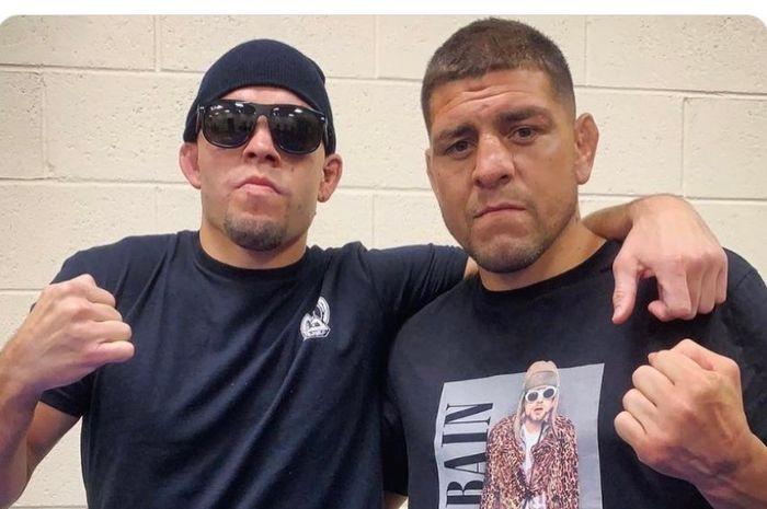Petarung UFC, Nick Diaz (kanan) dan adiknya, Nate Diaz.