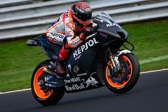 Tes MotoGP Misano 2021, pembalap Repsol Honda Marc Marquez ngrasa ada yang aneh sama motor MotoGP Honda RC213V 2022