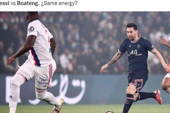 Rekaman video menunjukkan sosok terduga pelaku yang menyebabkan Lionel Messi mengalami cedera di laga Paris Saint-Germain versus Lyon.