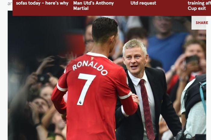 Cristiano Ronaldo dan Ole Gunnar Solskjaer.
