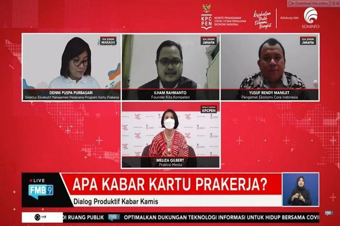 Dialog Produktif KPC PEN terkait kartu prakerja