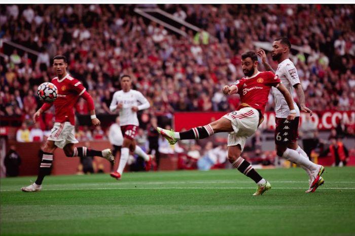 Kekalahan Manchester United dari Aston Villa diwarnai tendangan penalti Bruno Fernandes yang terbang ke awan dan rapor Cristiano Ronaldo jeblok.