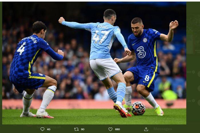 Duel Chelsea vs Manchester City pada lanjutan Liga Inggris di Stamford Bridge, 25 September 2021.