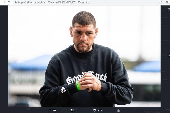 Petarung UFC, Nick Diaz, yang merupakan kakak dari Nate Diaz.