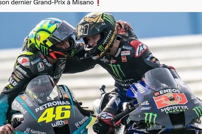 Valentino Rossi Akui Keputusan Mengganti Dirinya dengan Fabio Quartararo Tepat thumbnail
