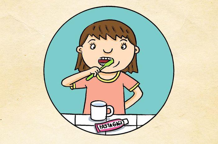 Cute Dan Sedih Gigi Dengan Kerosakan  Kartun