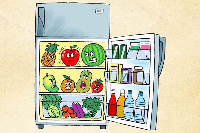 Beberapa makanan tidak bisa dimasukkan ke dalam kulkas.
