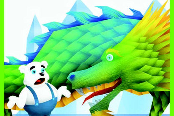 Beliy beruang ingin mengalahkan Ratu Snego, ratu salju yang jahat. Ia meminta bantuan Ogon naga, sahabatnya.