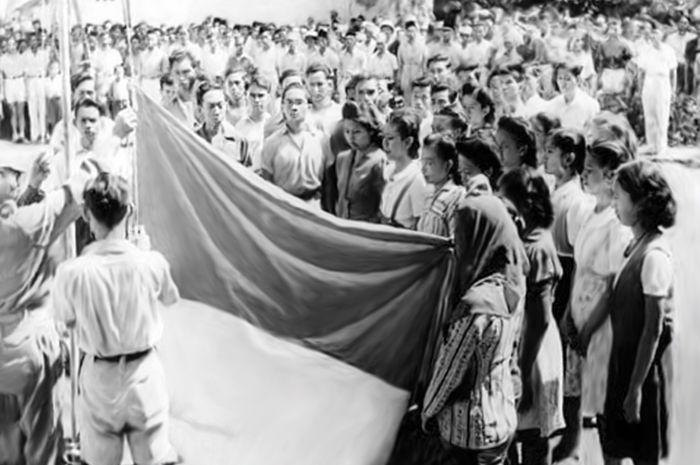 Detik-detik pengibaran Bendera Pusaka Merah Putih