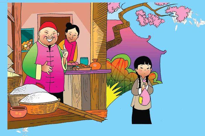Gadis kecil dan tukang beras