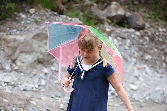 Hujan panas bisa ada karena tertiup oleh angin dari area yang sedang hujan.