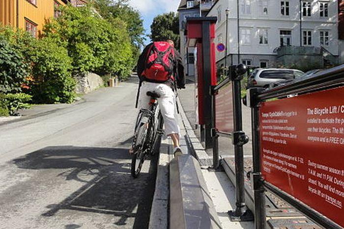 Trampe, elevatro khusus sepeda di Norwegia