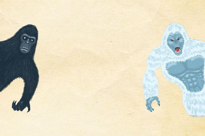 Yeti dan Big Foot, Monster Berbulu dan Bertubuh Besar