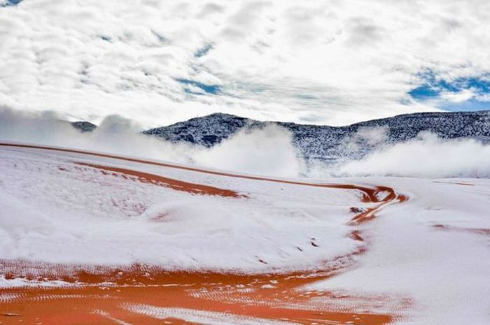 Ternyata, Salju Pernah Turun di Ain Sefra (Kota di Dekat Gurun Sahara) 3 Kali!