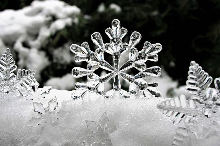 Biasanya salju terlihat berwarna putih tapi sebenarnya salju juga transparan.
