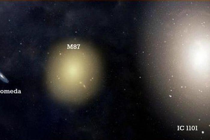 Galaksi IC 1101, galaksi elis terbesar di alam semesta
