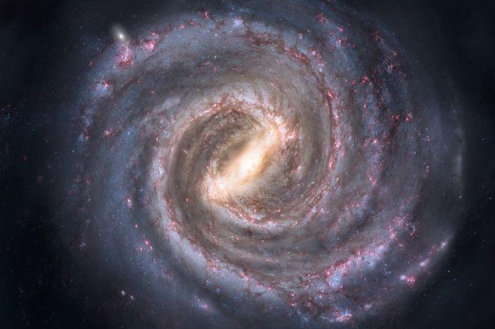 Pusat galaksi Bimasakti adalah lubang hitam supermasif.
