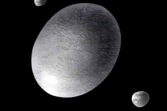 Haumea, planet kerdil berbentuk seperti telur