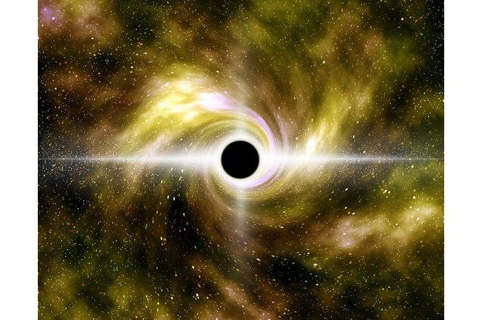 Lubang hitam merupakan benda langit yang tidak bercahaya.