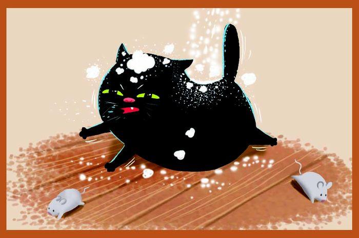 Dongeng Kucing Hitam dan Tikus Tua