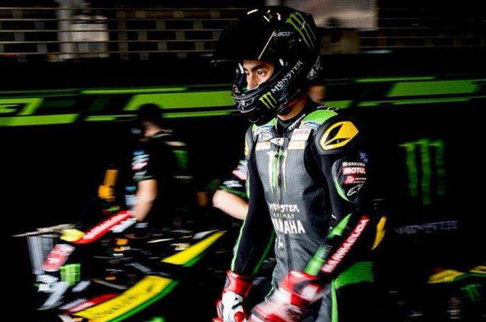 Pebalap Malaysia, Hafizh Syahrin, saat menjalani tes pramusim MotoGP 2018 bersama tim Monster Yamaha Tech3 di Sirkuit Buriram, Thailand, 16-18 Februari. Pada Rabu (21/2/22018), Syahrin resmi menjadi pebalap penuh untuk Yamaha Tech3, menggantikan Jonas Folger.