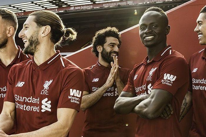Pemain Liverpool Menjadi Model Peluncuran Jersey Baru Liverpool