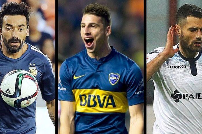 Ezequiel Lavezzi, Jonathan Calleri, dan Antonio Candreva, berpotensi jadi milik Inter di jendela transfer II.