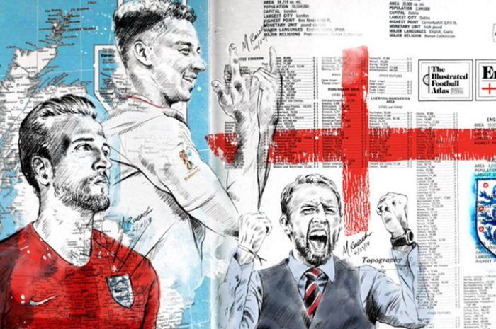 Keren Deretan Wajah Bintang Sepak Bola Ternama Mewarnai Peta Dunia