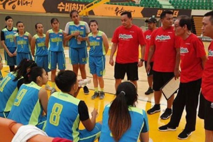 Timnas Basket Putri Indonesia saat menjalani try out di Korea Selatan untuk persiapan ajang Asian