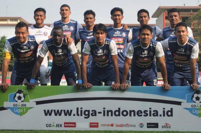 Skuat Arema FC dalam melakoni laga putaran kedua Liga 1 2018.