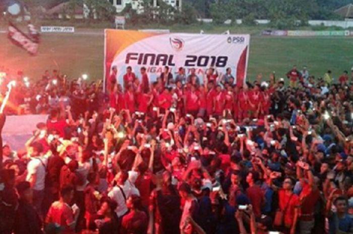 PSIP Pemalang menjuarai laga final Liga 3 2018 wilayah Jawa Tengah.