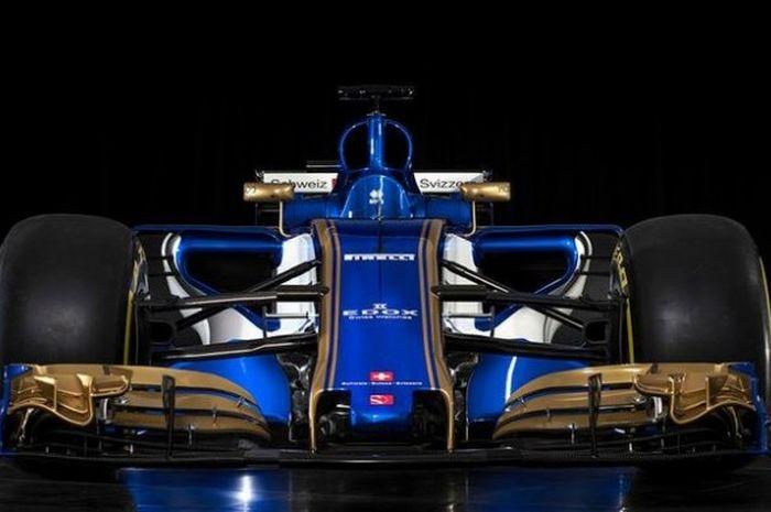 Tim Sauber merilis foto mobil yang akan dipakai pada musim balap Formula 1 (F1) 2017, C36, Senin (20/2/2017) waktu setempat.