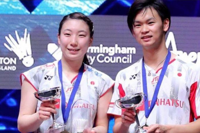 Pebulu tangkis ganda campuran Jepang, Yuta Watanabe/Arisa Higashino, berhasil menjadi juara All England Open 2018 pada Minggu (18/3/2018).