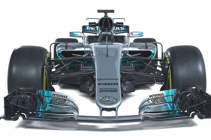 Mercedes F1 W08, berhidung normal tapi diyakini tetap efektif untuk aerodinamika.