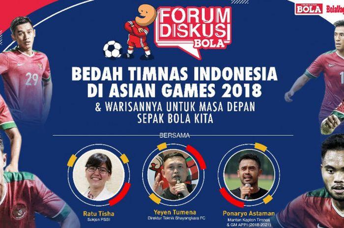 Forum Diskusi BOLA yang digelar pada Rabu (8/8/2018) membahas timnas U-23 Indonesia.