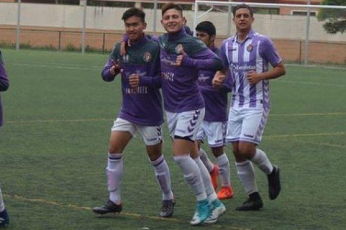 Khairul Imam  Zakiri sedang berlatih di Real Valladolid