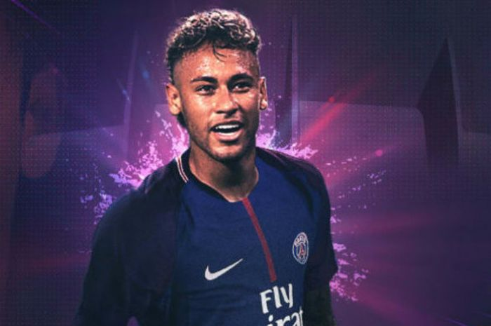 Striker baru Paris Saint-Germain, Neymar Junior.