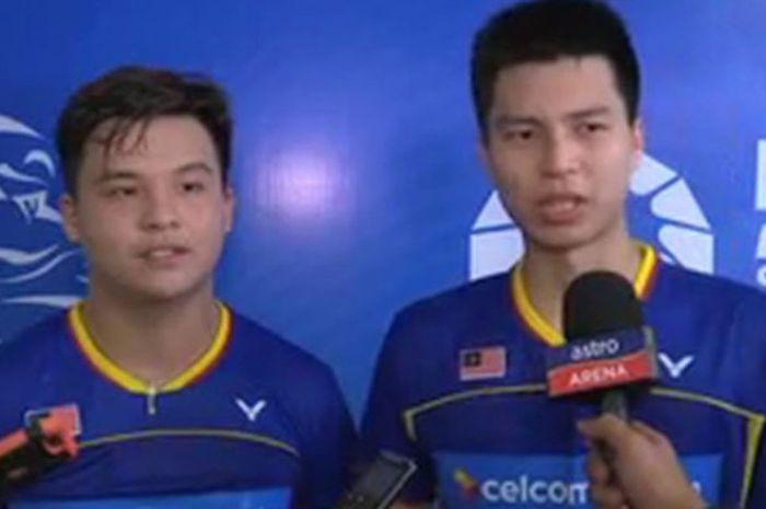 Teo Ee Yi (kiri) dan Ong Yew Sin (kanan), ganda putra Malaysia.