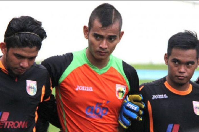 Ravi Murdianto telah bergabung dengan tim Mitra Kukar dalam sesi latihan di Stadion Aji Imbut, Selas