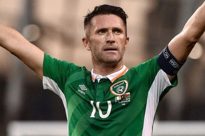 Robbie Keane tampil pada laga pamungkasnya bersama Republik Irlandia di Stadion Aviva, Dublin, pada Rabu (31/8/2016) atau Kamis dini hari WIB.