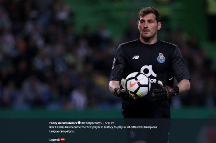 Eks penjaga gawang Real Madrid, Iker Casillas, saat tampil bersama FC Porto.