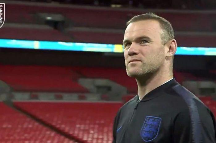 Penyerang timnas Inggris, Wayne Rooney.